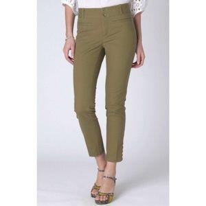 CARTONNIER Tilda Slim Green Cutout Pants // Size 8